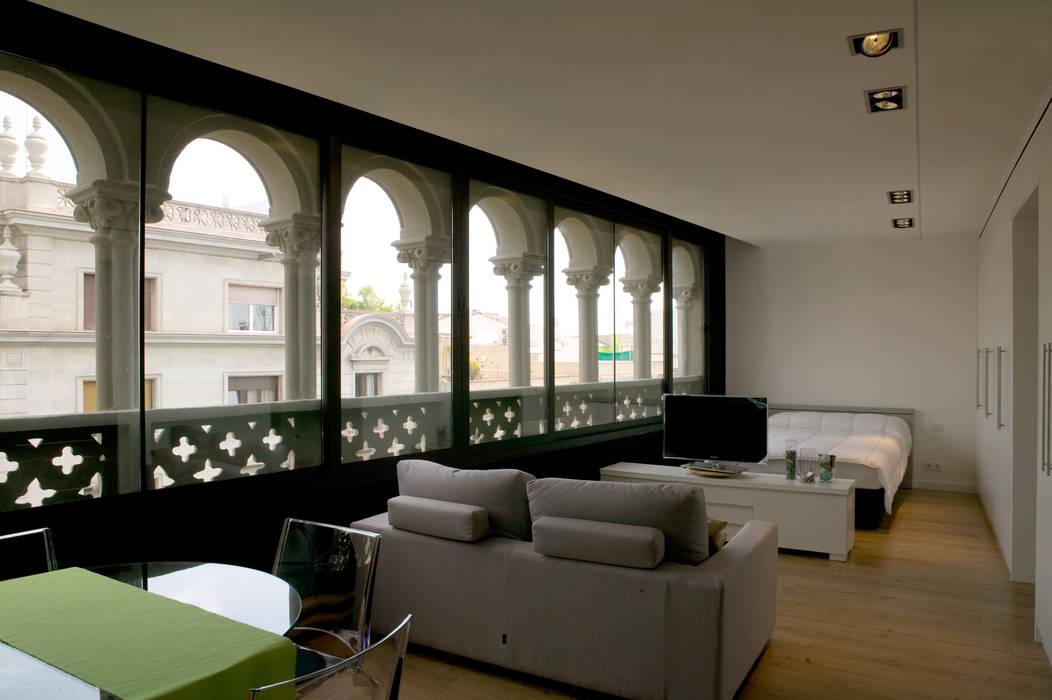 Salon comedor de piso pequeño de projectelab moderno ...