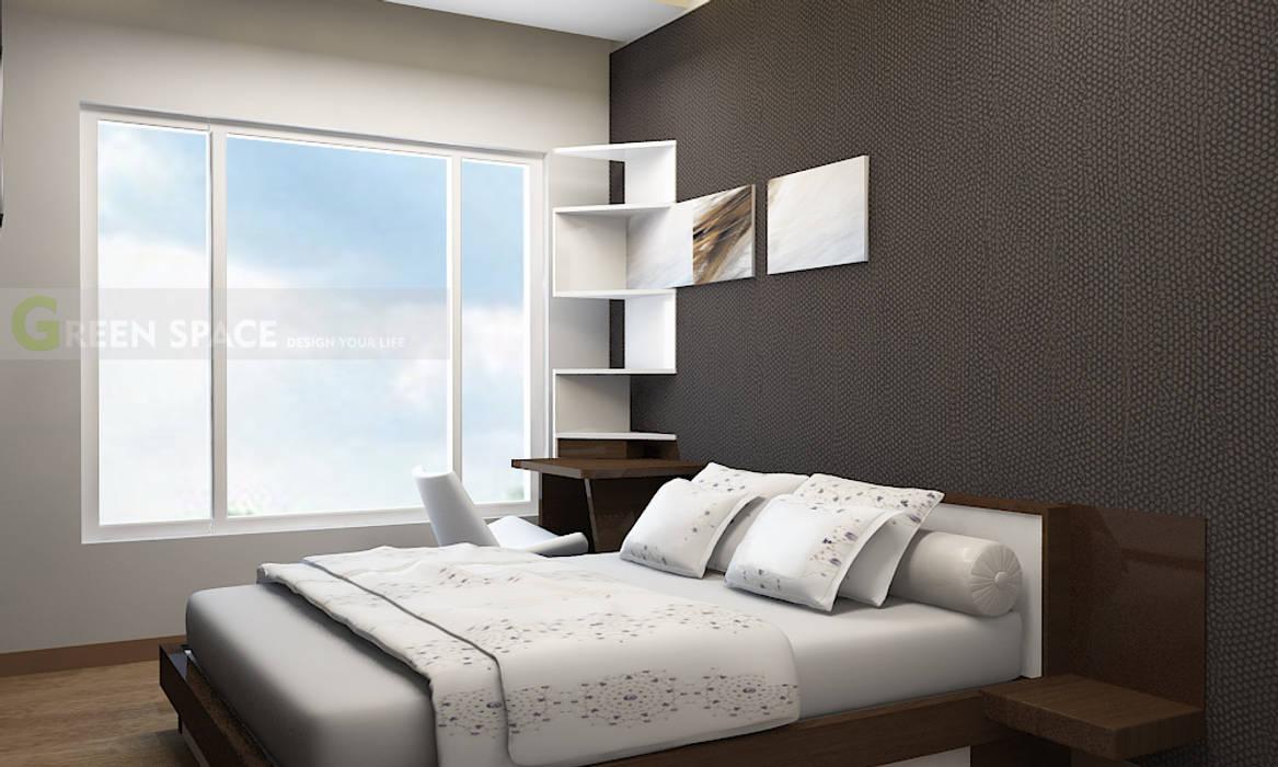 THIẾT KẾ VÀ THI CÔNG NỘI THẤT_THE KRITA_BY GREEN SPACE Phòng ngủ phong cách hiện đại bởi CÔNG TY TNHH THIẾT KẾ VÀ XÂY DỰNG GREEN SPACE Hiện đại