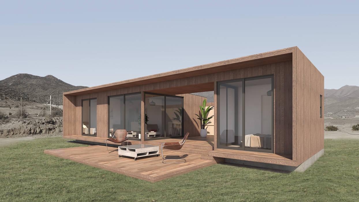 Oleh Uno Arquitectura Rustic Kayu Wood effect
