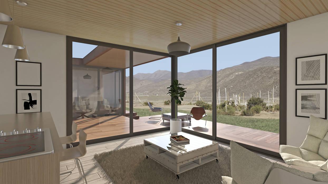 Vivienda Los Choros: Terrazas  de estilo  por Uno Arquitectura,