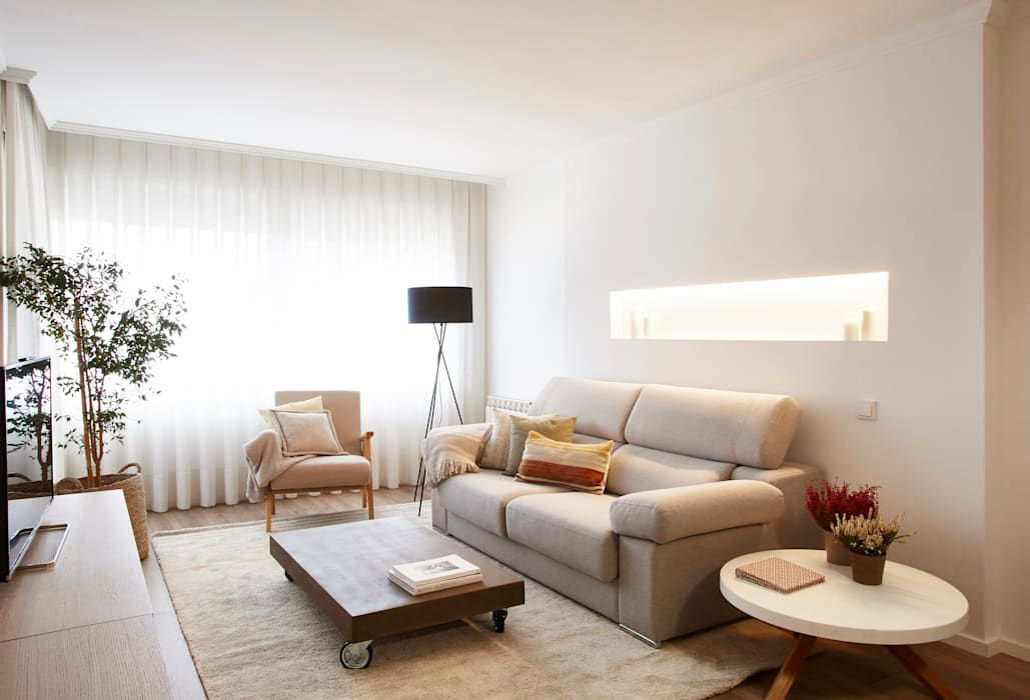 Sala de estar Salones de estilo escandinavo de Laia Ubia Studio Escandinavo