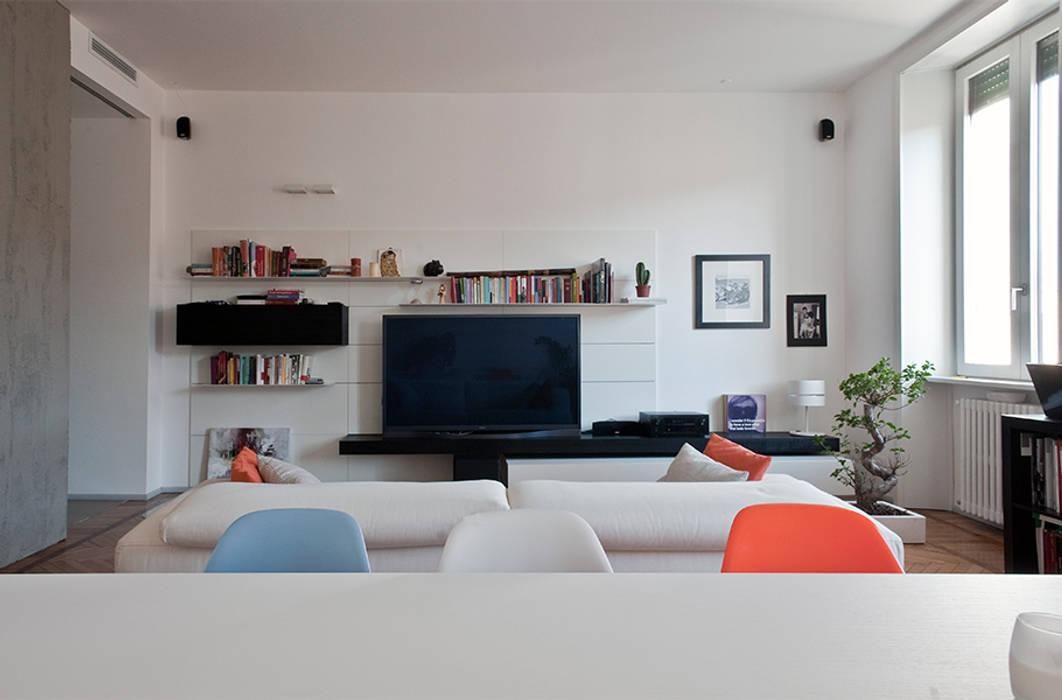 Ruang Keluarga oleh homify, Modern Kayu Wood effect