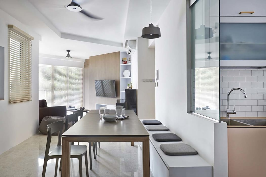 COTE D'AZUR Scandinavian style dining room by Eightytwo Pte Ltd Scandinavian