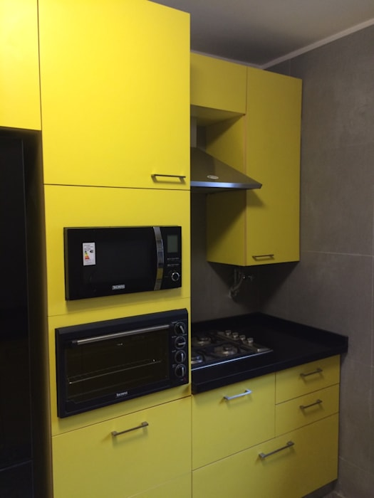Mural cocina: Muebles de cocinas de estilo  por PICHARA + RIOS arquitectos