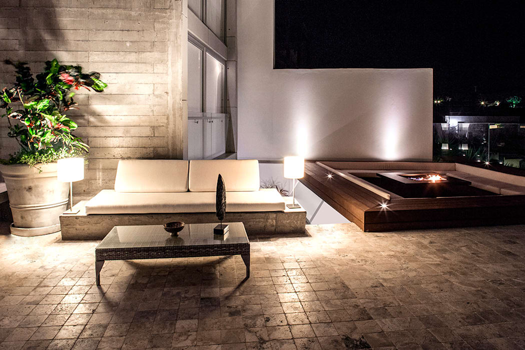 Balcon, Veranda & Terrasse de style  par Chetecortés