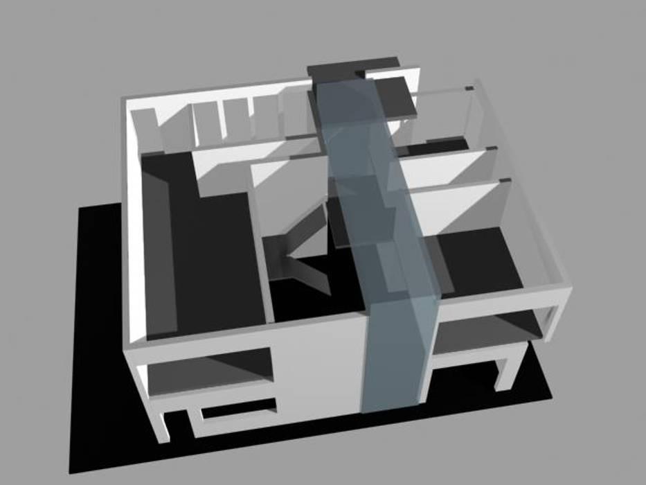 IDEA PROYECTO CASA CH : Casas unifamiliares de estilo  por PICHARA + RIOS arquitectos