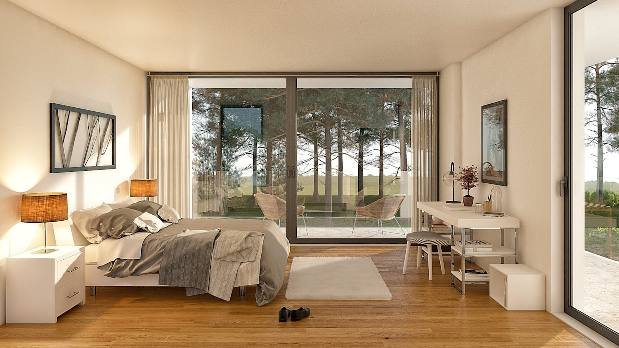 Dormitorios de estilo  por Traçado Regulador. Lda