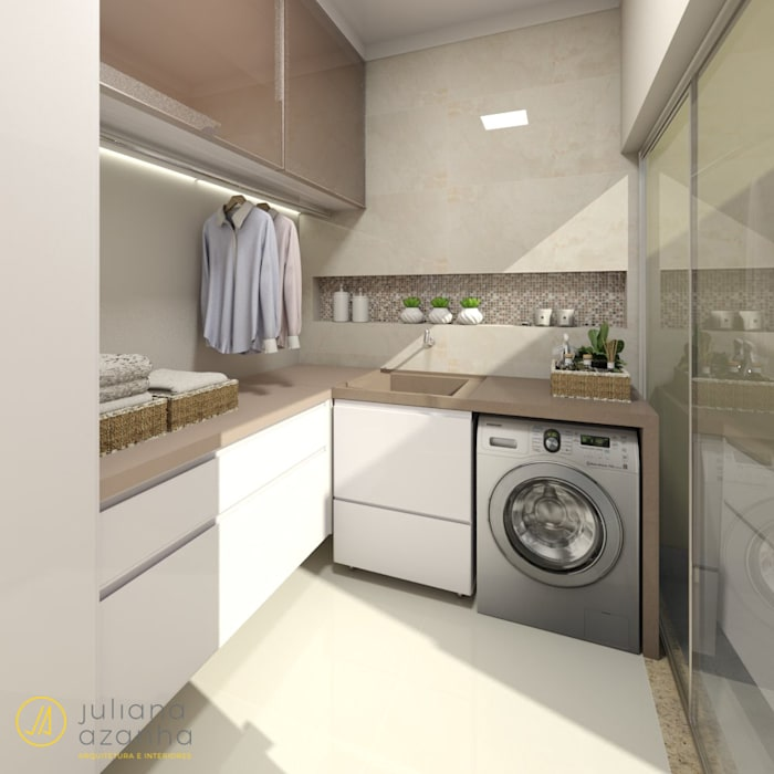 Área de Serviço por Juliana Azanha | Arquitetura e Interiores Moderno