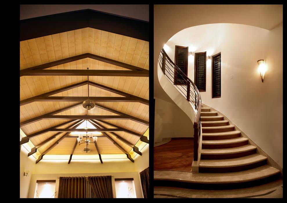 Escalier de style  par Myriadhues, Classique Bois Effet bois