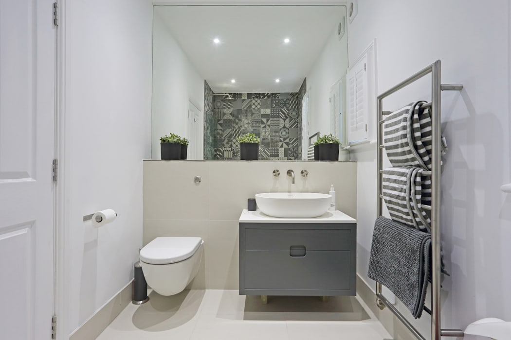 Edwardian meets contemporary; Teddington Family Home PAD ARCHITECTS Casas de banho modernas