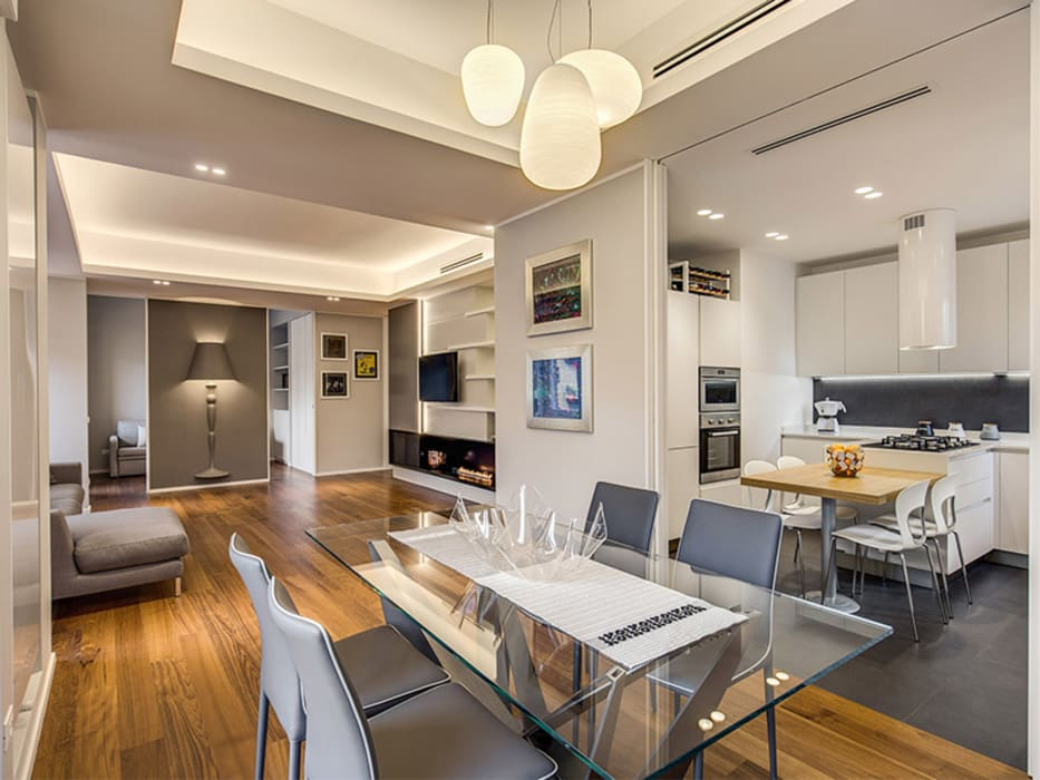 OJETTI: Sala da pranzo in stile  di MOB ARCHITECTS, Moderno