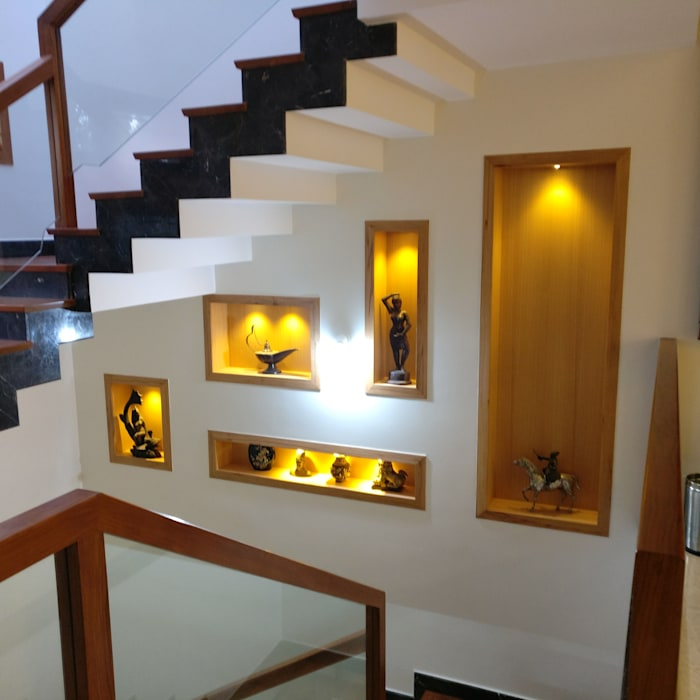 Niche:  Stairs by Geometrixs Architects & Engineers
