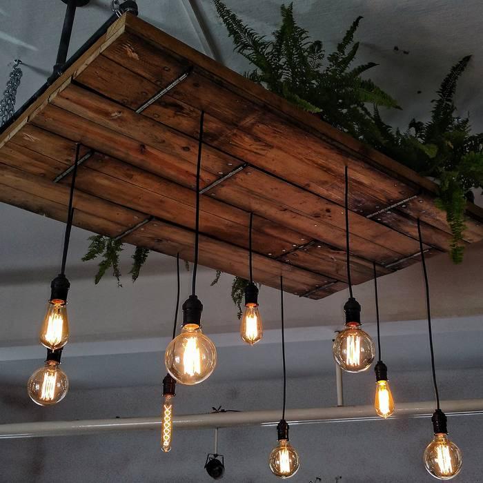 madera edison plataforma vintage Lampara de colgantes techo MpSUVzq