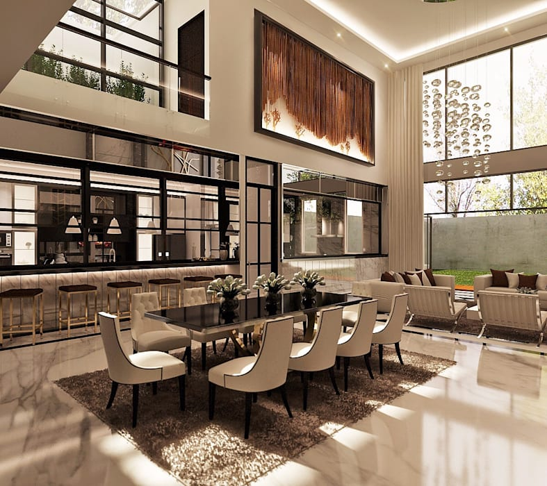 Ruang Makan: Ruang Makan oleh Lighthouse Architect Indonesia,