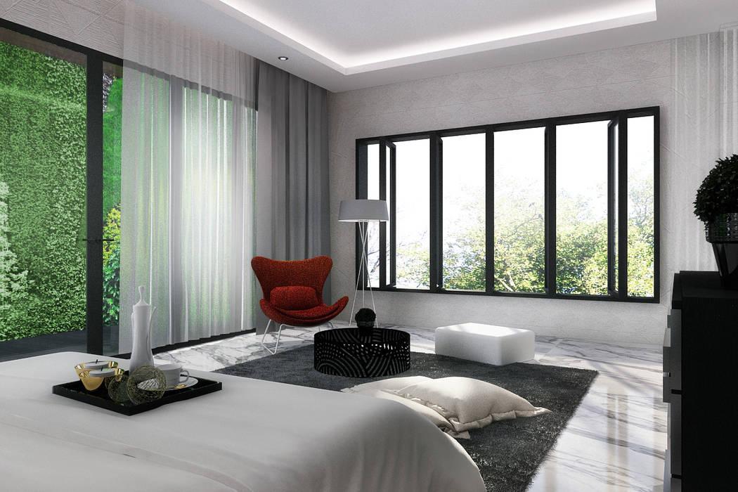 Master room: Kamar Tidur oleh Lighthouse Architect Indonesia, Modern