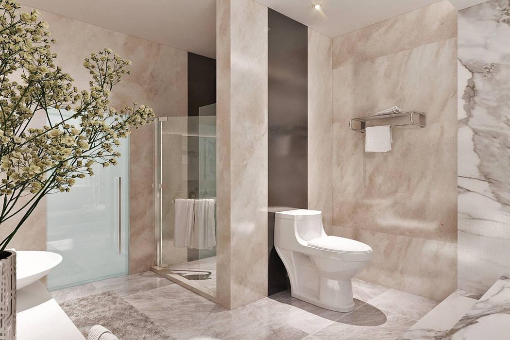 Master Bathroom: Kamar Mandi oleh Lighthouse Architect Indonesia,