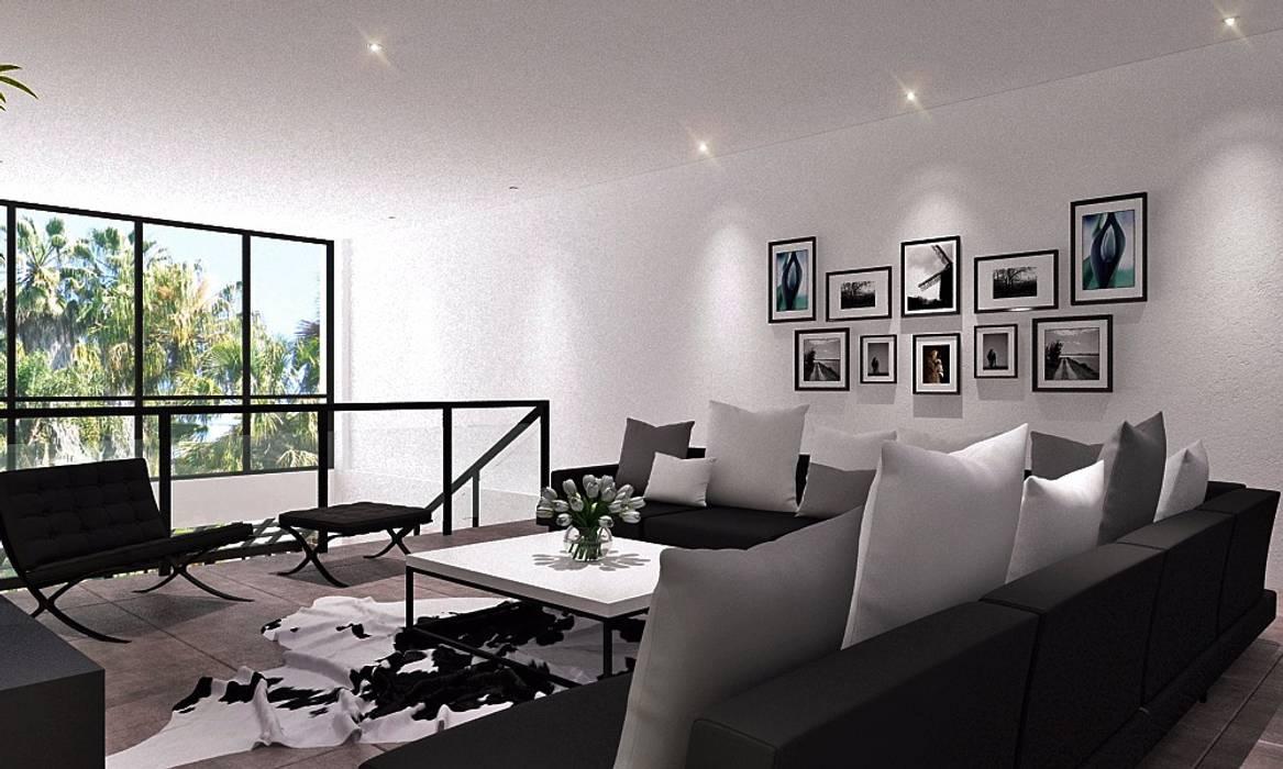 Ruang Keluarga: Ruang Keluarga oleh Lighthouse Architect Indonesia, Modern