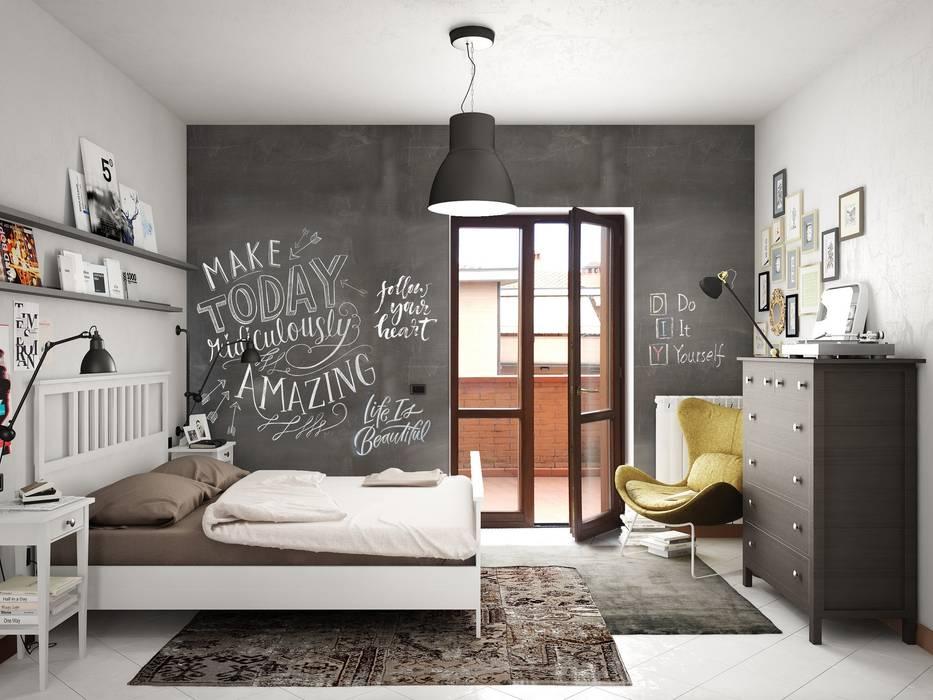 Casa f camera da letto in stile industriale di studio for Studio in camera da letto