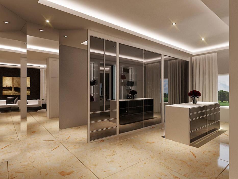 Master Room Design Concept: Ruang Ganti oleh Lighthouse Architect Indonesia,