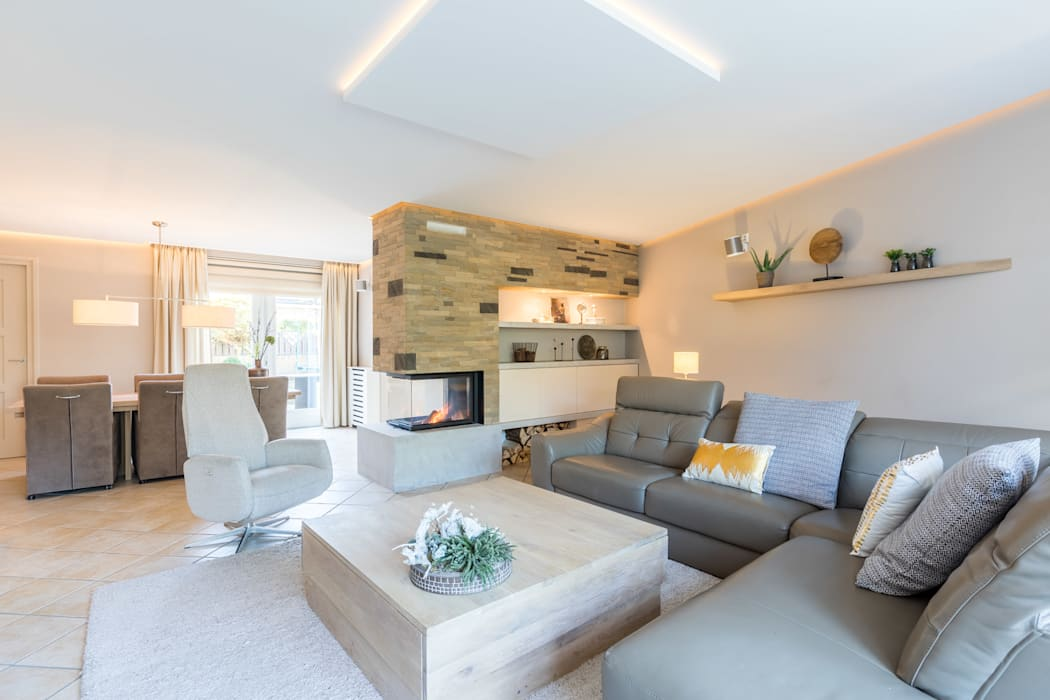 Moderne Wohnzimmer von Aangenaam Interieuradvies Modern