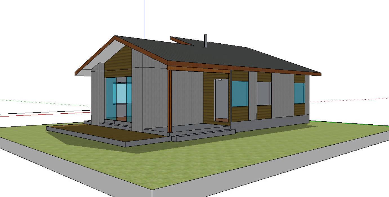 Fachada Norte. Modelo preliminar: Casas unifamiliares de estilo  por casa rural
