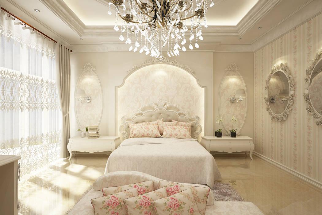 Master room: Kamar Tidur oleh Lighthouse Architect Indonesia,