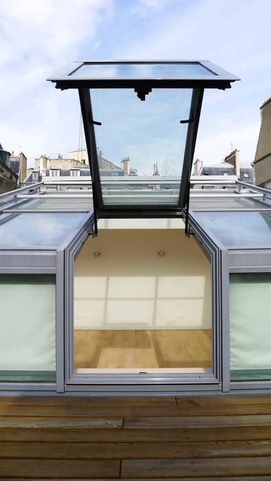Стеклянная крыша в . Автор – Lab123, Минимализм Алюминий / Цинк
