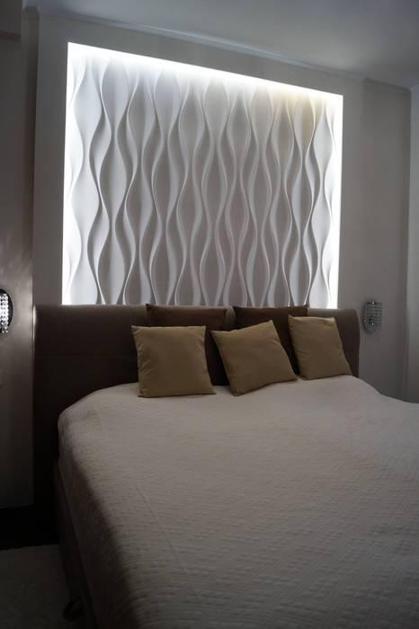 3d wandpaneel design nr.24 flow: schlafzimmer von loft design system ...