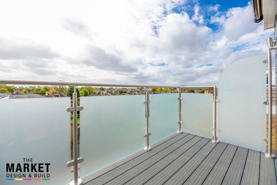 New Build London Penthouse The Market Design & Build Modern balcony, veranda & terrace