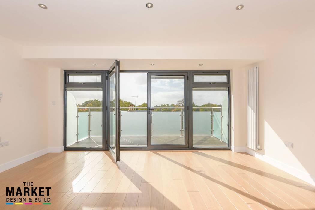 New Build London Penthouse The Market Design & Build Modern style doors