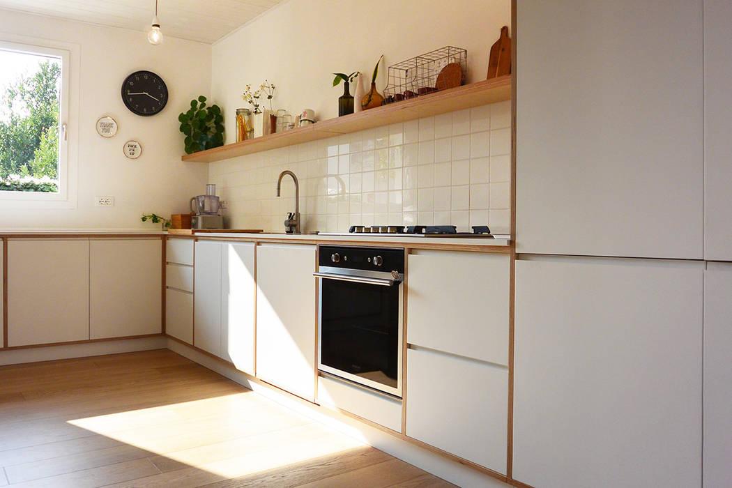 Cucina su disegno studiovert Cucina attrezzata Legno Bianco