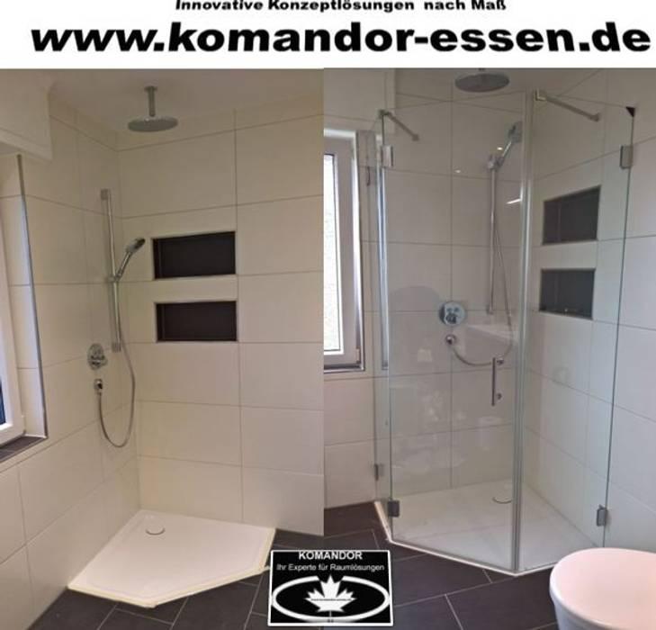 Glas duschkabinen nach maß komandor essen: badezimmer von ...