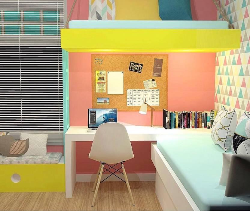 Kassia Rosa Designer de Interiores Dormitorios infantiles Accesorios y decoración Tablero DM Rosa