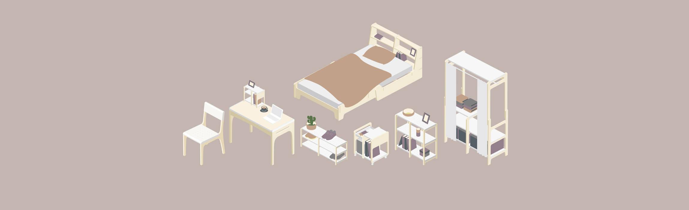 品味:  臥室 by GOOZOO DESIGN LTD.