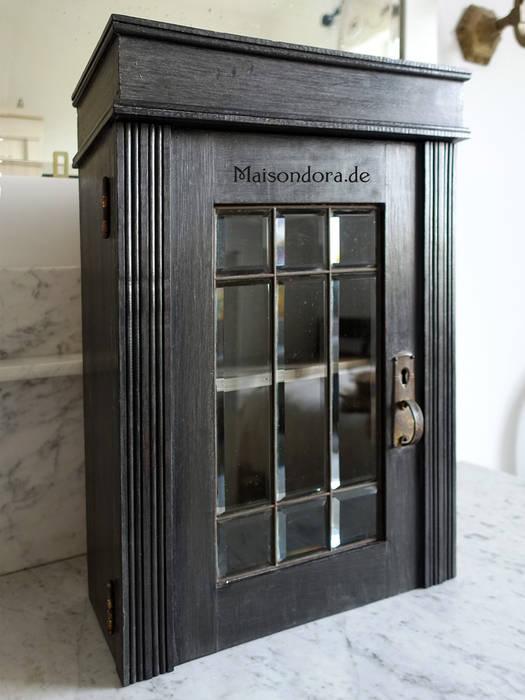 badezimmer 1920, schwarzer apothekerschrank mit glasprismen-tür 1920: koloniale, Badezimmer