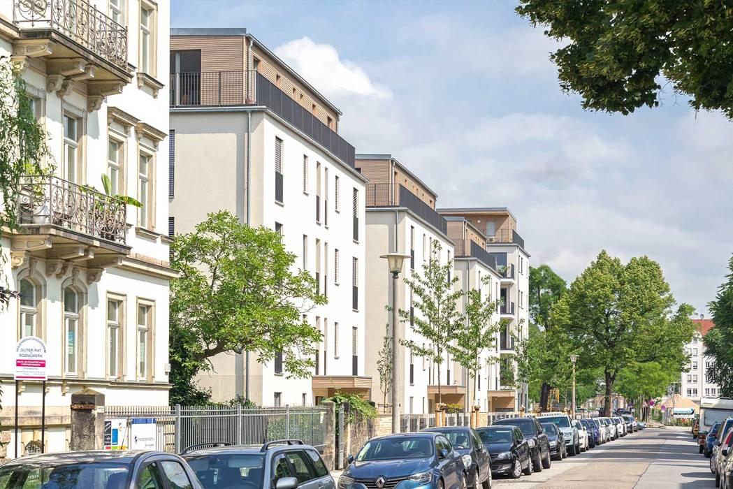 Holzpalais Erna-Berger-Straße Dresden :  Mehrfamilienhaus von MBR Architekten PartG mbB