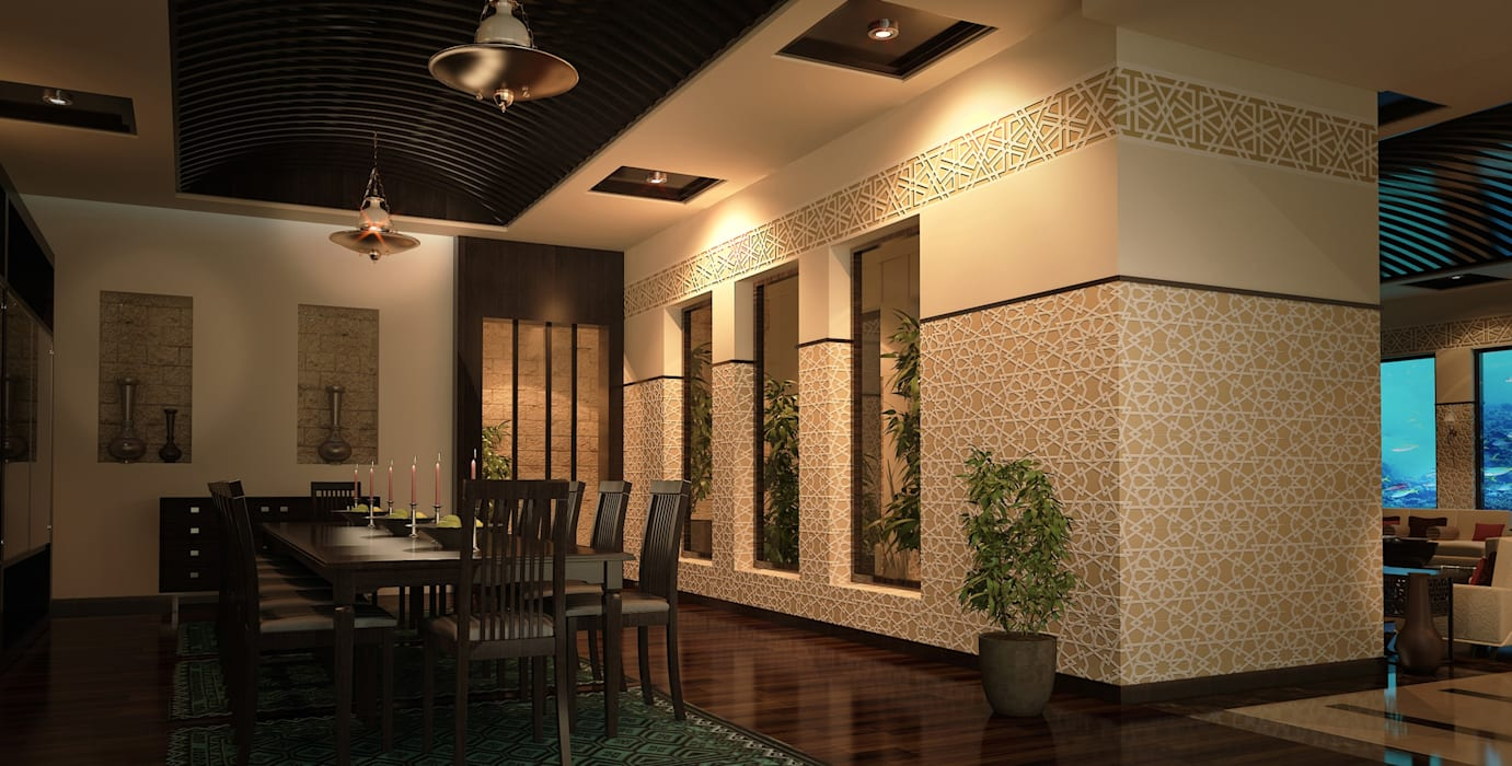 Dining room by SPACES Architects Planners Engineers