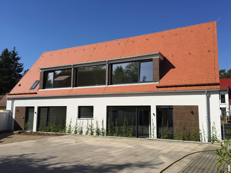 Kindergarten - Perspektive von Süd- Westen:  Schulen von Hübner Architekten