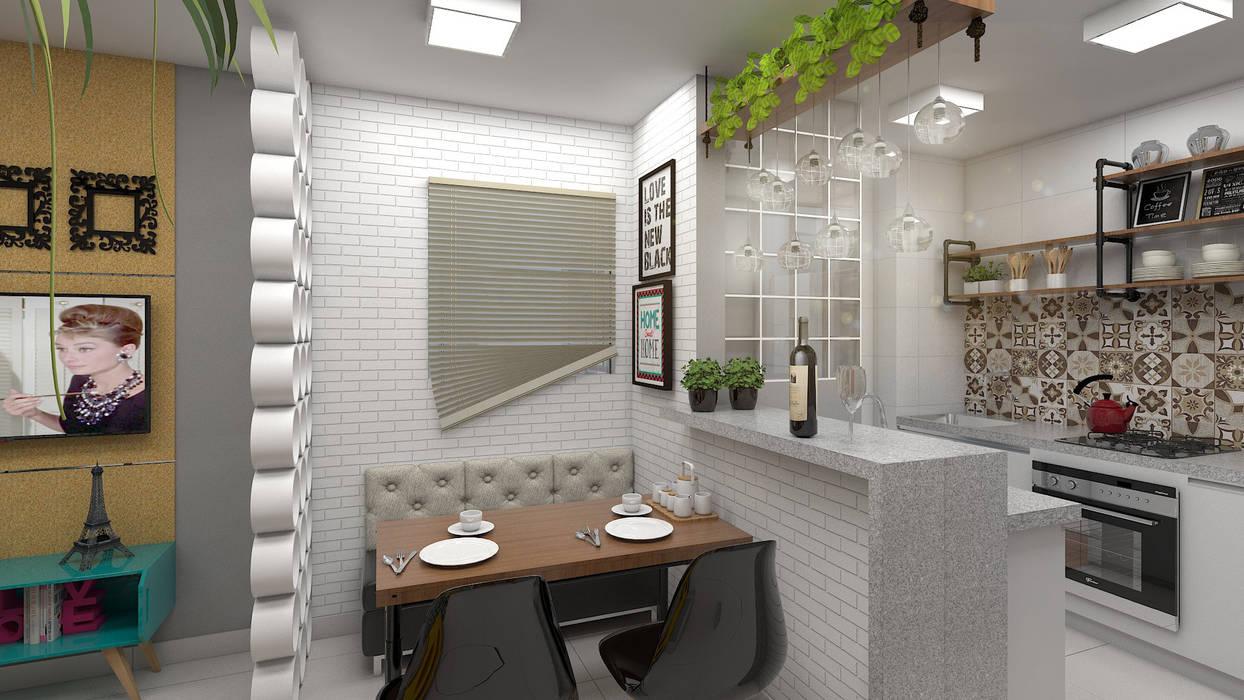 Sala de Jantar: Salas de jantar  por Plano A Studio,Industrial