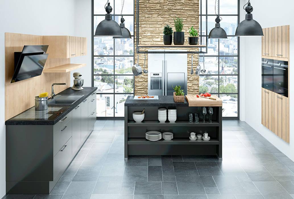 Marquardt Küchen Unit dapur Granit Black