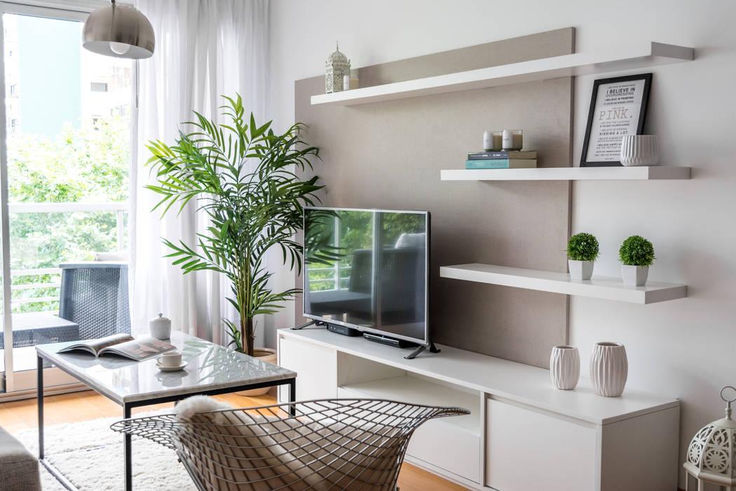 Obra avalos - diseño integral living comedor: livings de estilo por ...