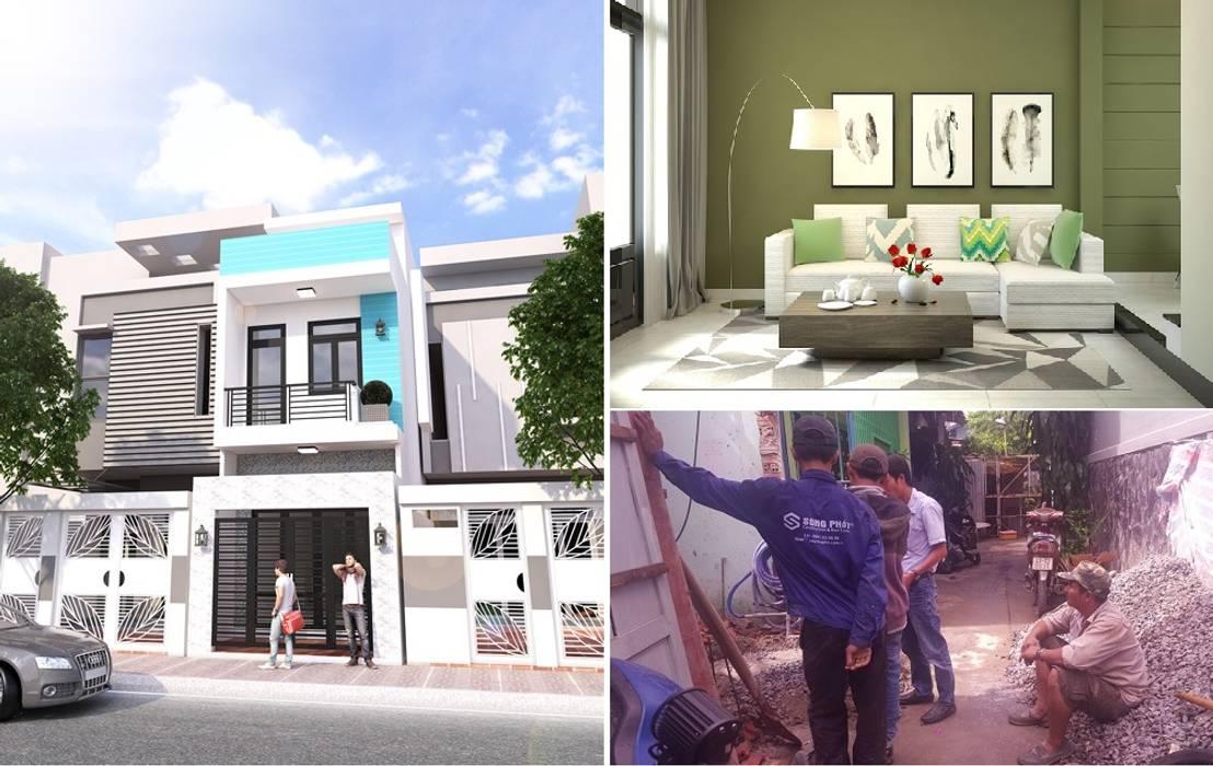 Thông tin dự án thiết kế nhà phố đẹp 3 tầng:  Nhà gia đình by Công ty TNHH Xây Dựng TM – DV Song Phát
