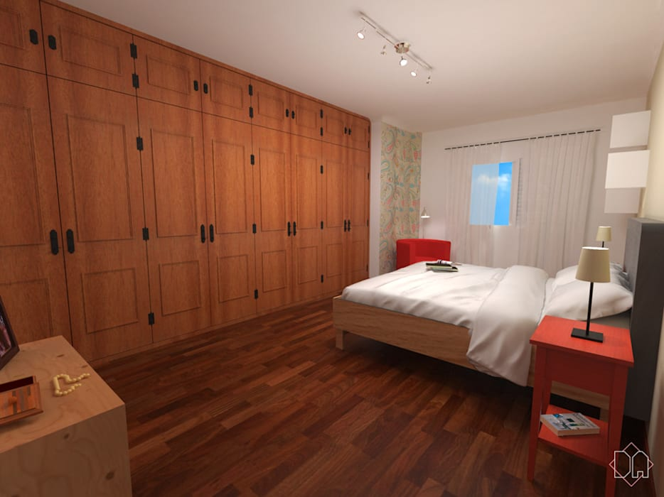 Dormitório Casal Quartos minimalistas por Studio Bertoluci Minimalista
