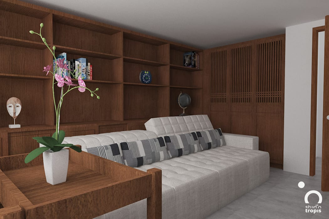 Tropical style media rooms by Studio Tropis Tropical