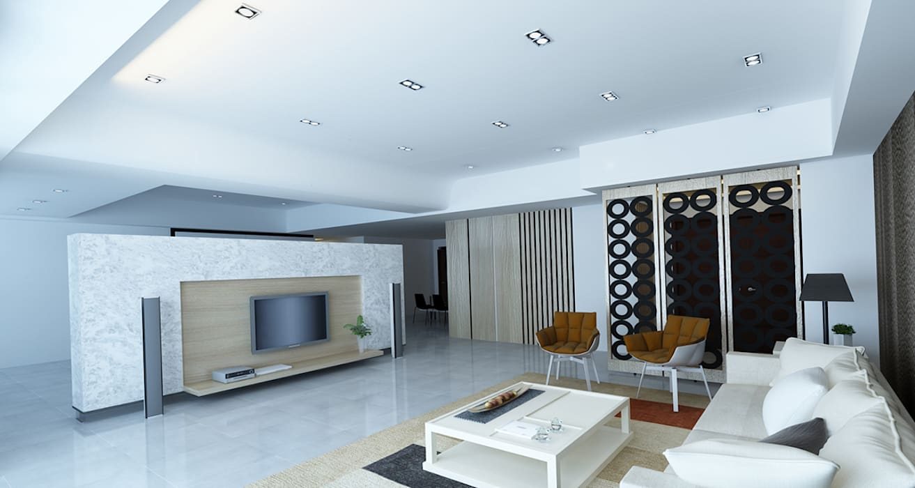 project-3002 Modern Living Room by YU SPACE DESIGN Modern Marble