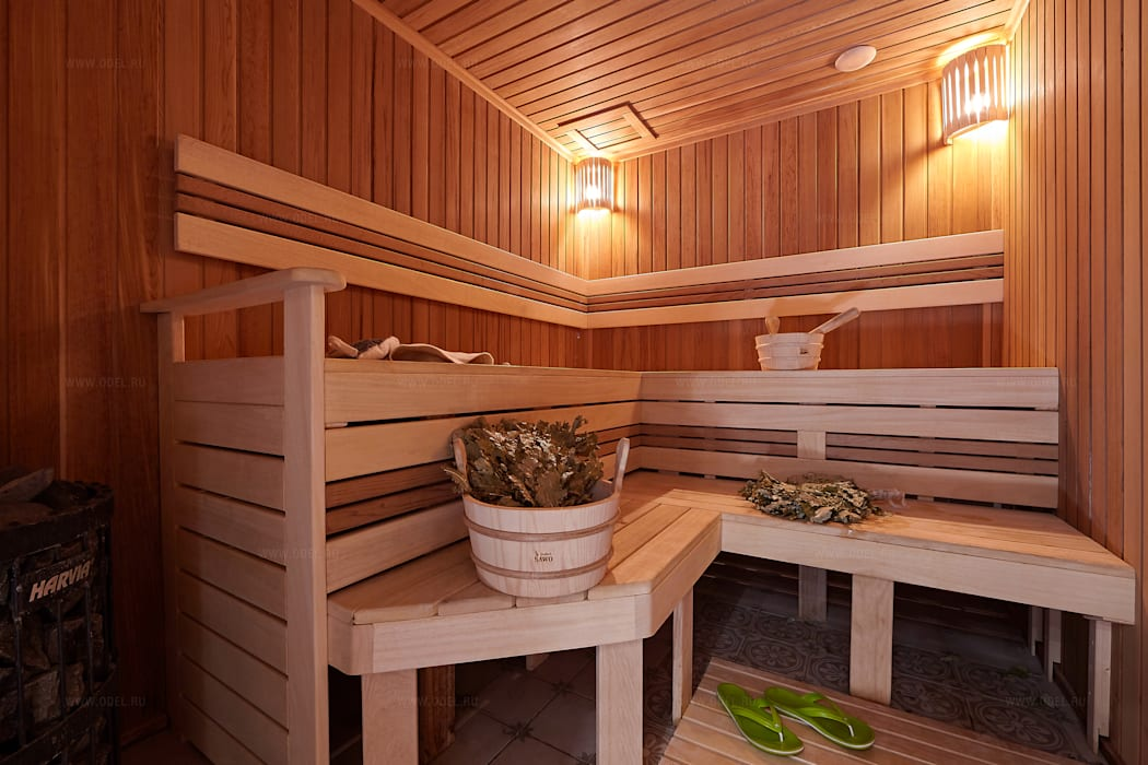 Steam Bath by ODEL, Country Wood Wood effect
