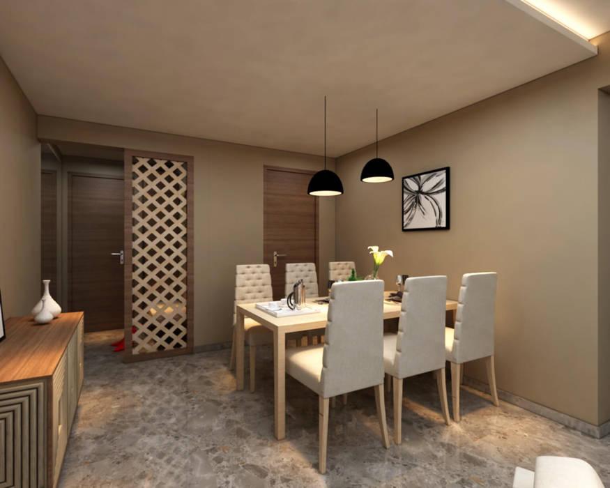 Borivali Residence:  Dining room by Midas Dezign