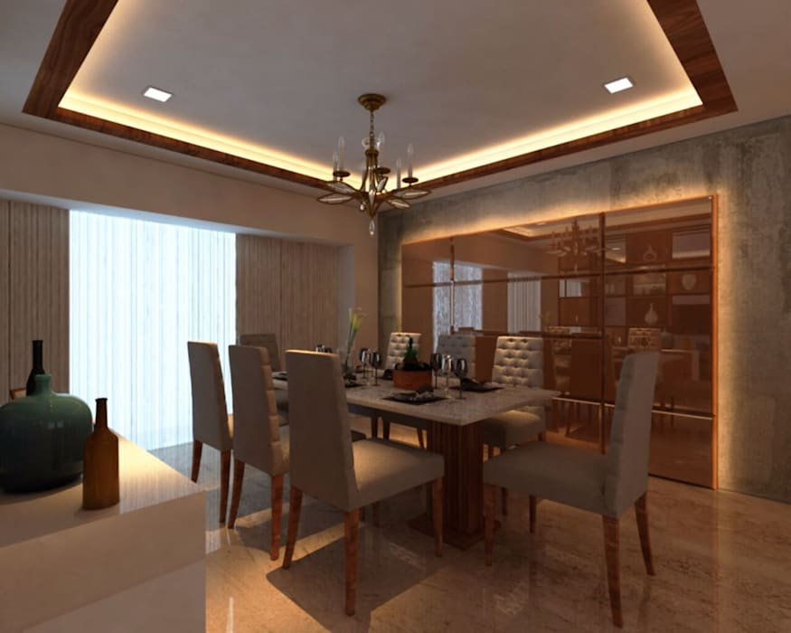 Asian style dining room by Midas Dezign Asian