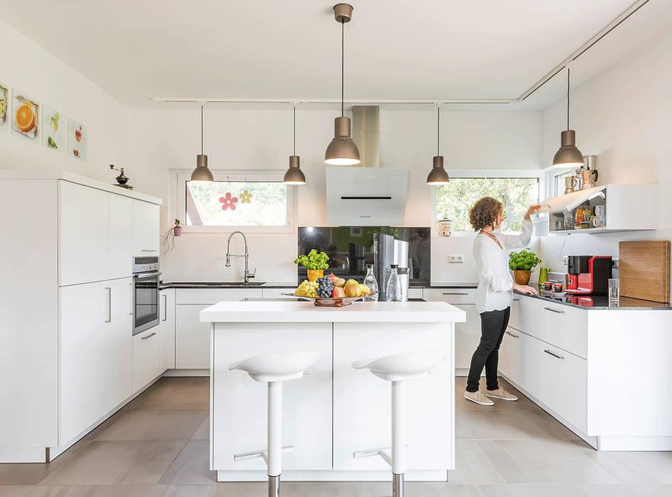 Bemerkenswert Offene Küche Wohnzimmer Abtrennen Design Sowie 29 ...