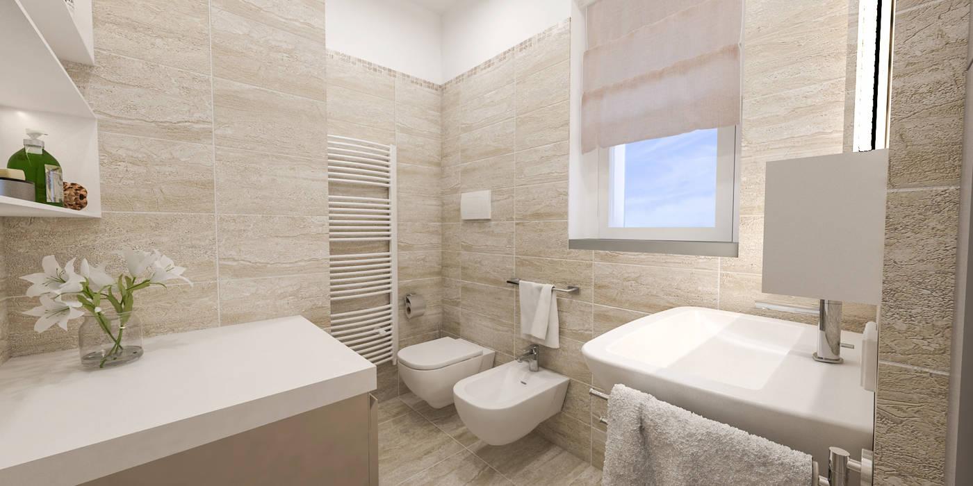 bagno: Bagno in stile in stile Moderno di studiosagitair